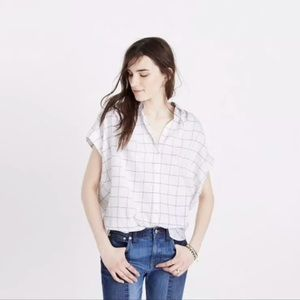 Madewell Size M central shirt in windowpane plaid